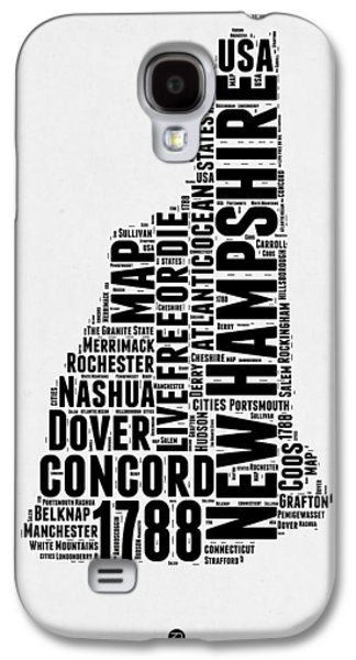 New Hampshire Word Cloud Map 2 Galaxy S4 Case by Naxart Studio