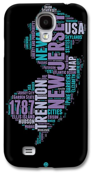 New Jersey Word Cloud 1 Galaxy S4 Case by Naxart Studio