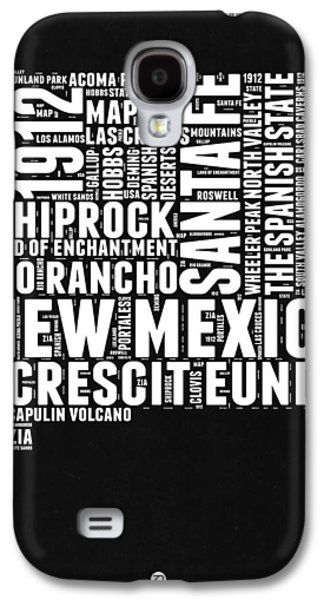 New Mexico Black And White Word Cloud Map Galaxy S4 Case