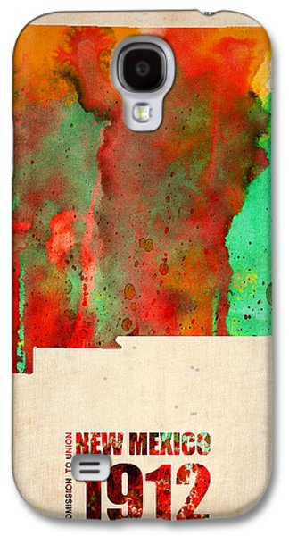 New Mexico Watercolor Map Galaxy S4 Case by Naxart Studio