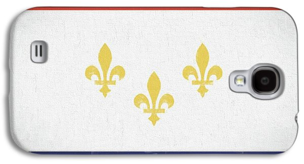 Galaxy S4 Case featuring the digital art New Orleans City Flag by JC Findley