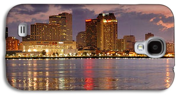 City Sunset Galaxy S4 Case - New Orleans Skyline At Dusk by Jon Holiday