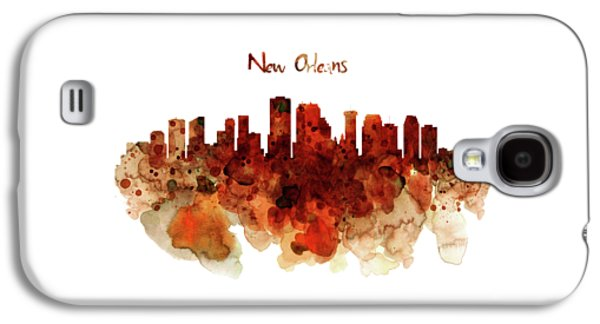 New Orleans Watercolor Skyline Galaxy S4 Case
