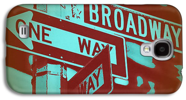 New York Digital Galaxy S4 Cases - New York Broadway Sign Galaxy S4 Case by Naxart Studio