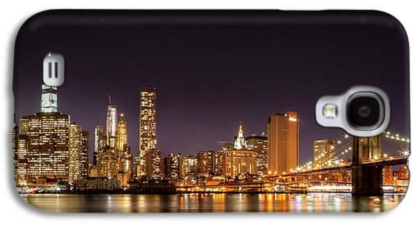 New York City Lights At Night Galaxy S4 Case by Az Jackson