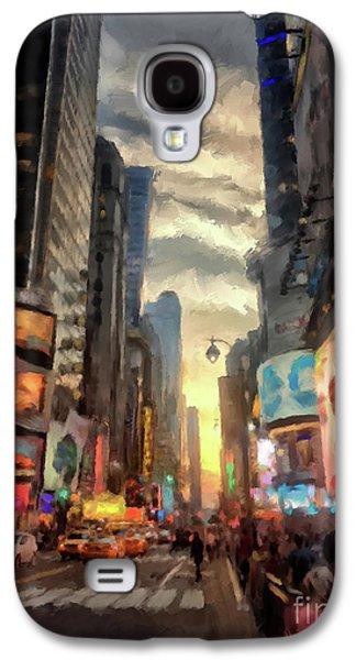 New York City Lights Galaxy S4 Case