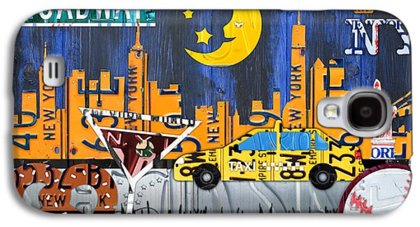 New York City Nyc The Big Apple License Plate Art Collage No 1 Galaxy S4 Case