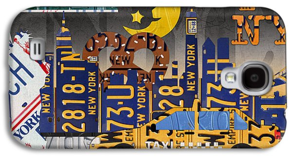 New York City Nyc The Big Apple License Plate Art Collage No 2 Galaxy S4 Case