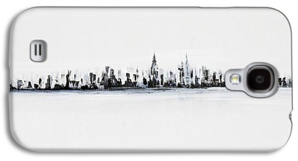 New York City Skyline Black And White Galaxy S4 Case by Jack Diamond