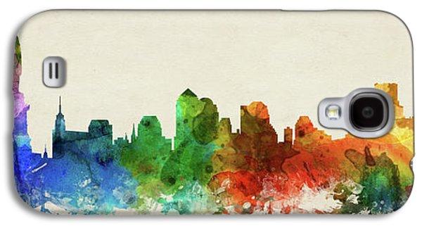 New York City Skyline Panorama Usnyny-pa03 Galaxy S4 Case