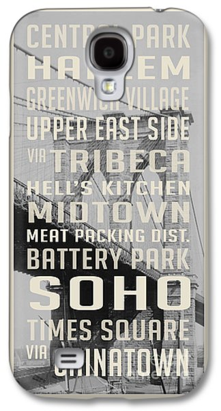 New York City Subway Stops Vintage Brooklyn Bridge Galaxy S4 Case