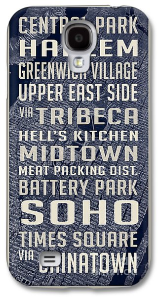 New York City Vintage Subway Stops With Map Galaxy S4 Case