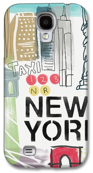 New York Cityscape- Art By Linda Woods Galaxy S4 Case by Linda Woods