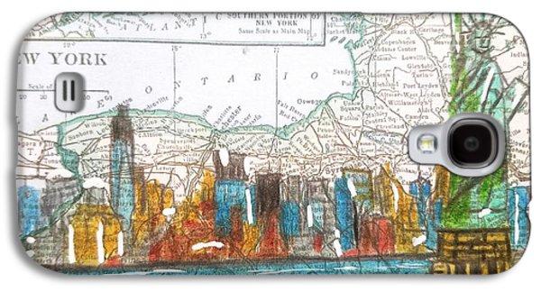 New York Cityscape Map Galaxy S4 Case