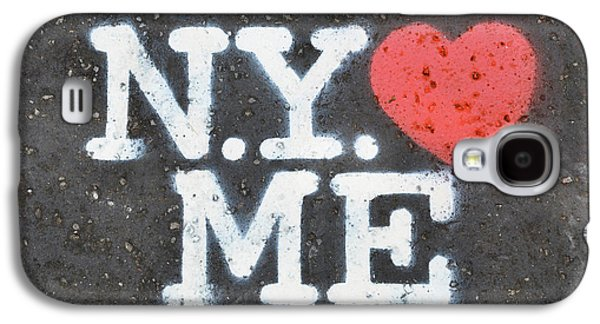 New York Loves Me Stencil Galaxy S4 Case by Dutourdumonde Photography