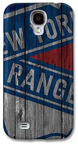 New York Rangers Wood Fence Galaxy S4 Case