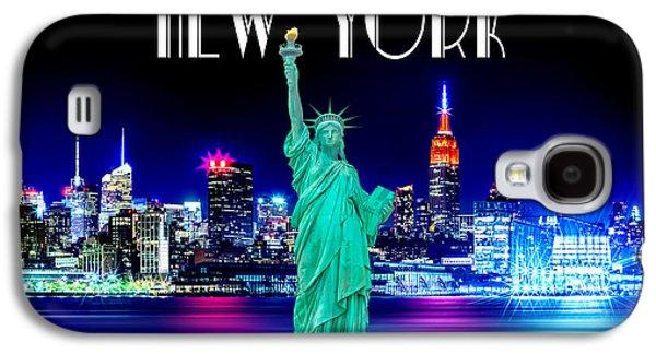 New York Shines Galaxy S4 Case by Az Jackson