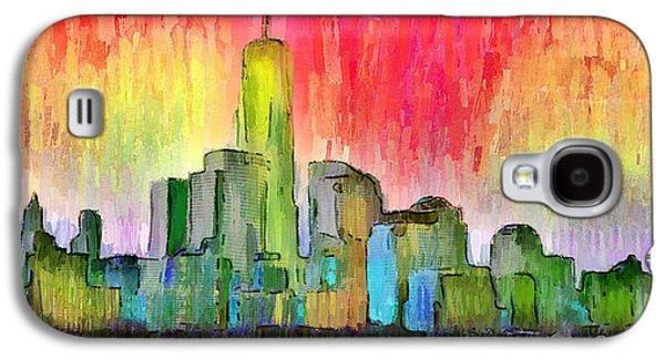 New York Skyline 3 - Da Galaxy S4 Case by Leonardo Digenio