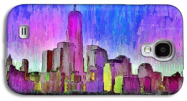 New York Skyline 4 - Da Galaxy S4 Case by Leonardo Digenio