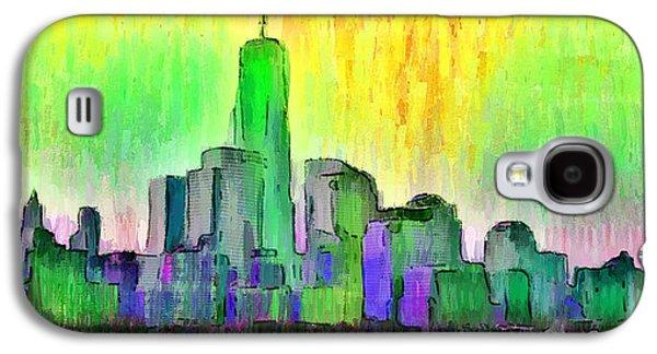 New York Skyline 5 - Da Galaxy S4 Case by Leonardo Digenio
