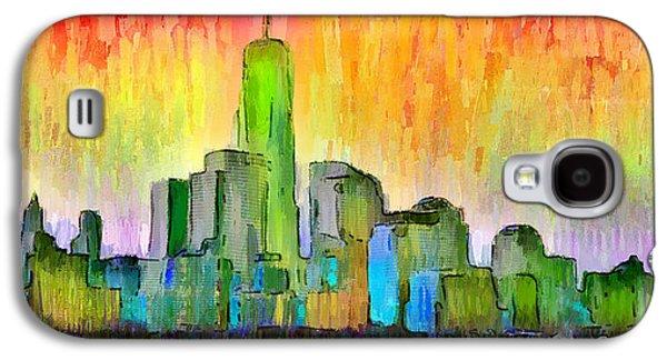 New York Skyline 6 - Pa Galaxy S4 Case by Leonardo Digenio