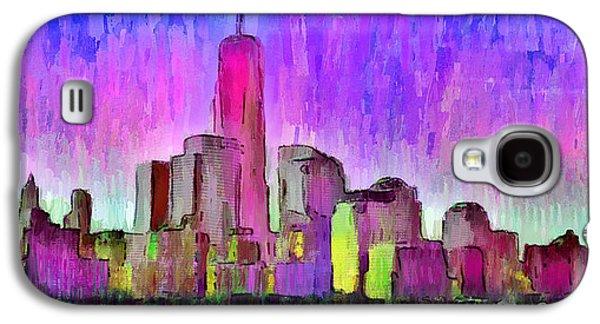 New York Skyline 7 - Da Galaxy S4 Case by Leonardo Digenio