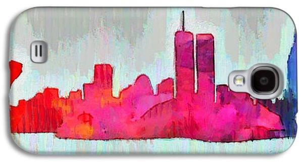 New York Skyline Old Shapes - Da Galaxy S4 Case by Leonardo Digenio