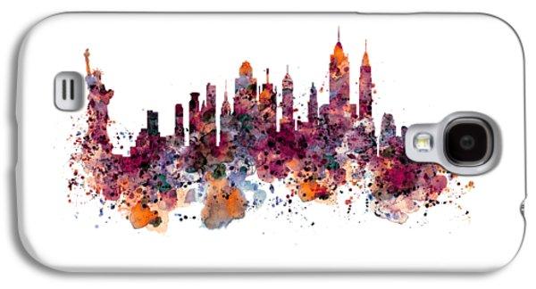 New York Skyline Watercolor Galaxy S4 Case