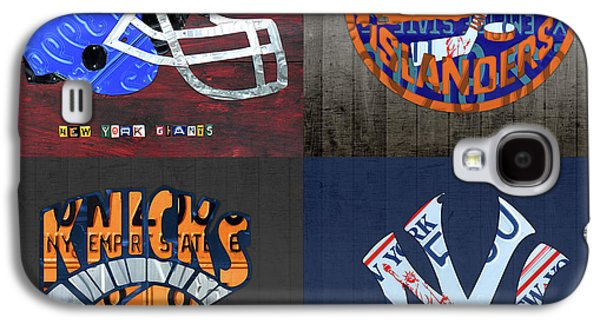 New York Sports Team License Plate Art Collage Giants Islanders Knicks Yankees Galaxy S4 Case