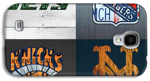 New York Sports Team License Plate Art Collage Jets Rangers Knicks Mets V2 Galaxy S4 Case