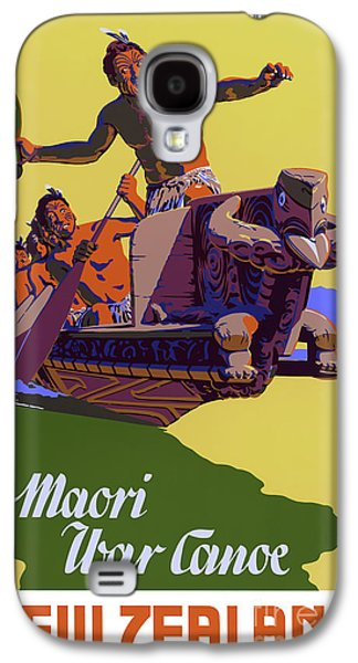 New Zealand Vintage Travel Poster Restored Galaxy S4 Case