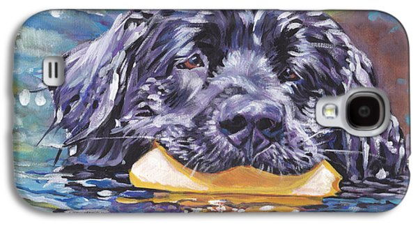 Recently Sold -  - Puppies Galaxy S4 Cases - Newfoundland Swim Galaxy S4 Case by Lee Ann Shepard