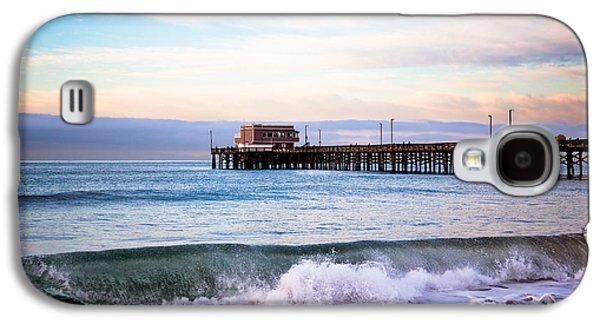 Newport Beach Ca Pier At Sunrise Galaxy S4 Case by Paul Velgos