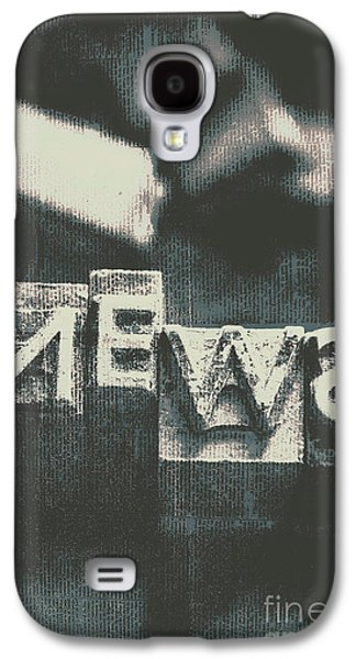 Newspaper Printing Press Art Galaxy S4 Case by Jorgo Photography - Wall Art Gallery
