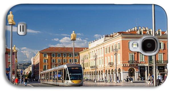 Nice Tramway At Place Massena Galaxy S4 Case by Elena Elisseeva