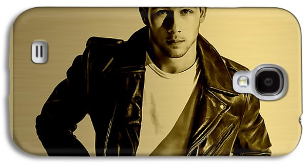 Nick Jonas Collection Galaxy S4 Case by Marvin Blaine