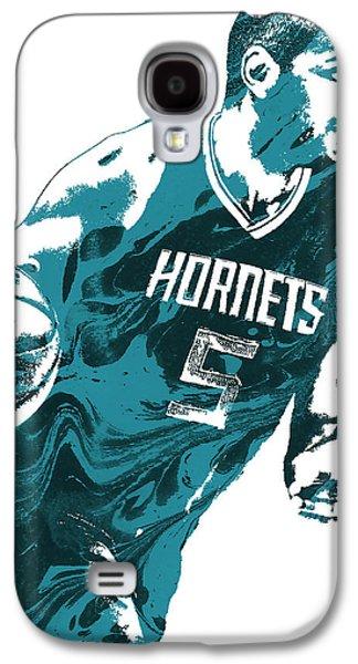 Nicolas Batum Charlotte Hornets Pixel Art 3 Galaxy S4 Case by Joe Hamilton