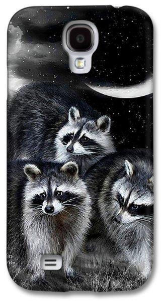 Night Bandits Galaxy S4 Case by Carol Cavalaris