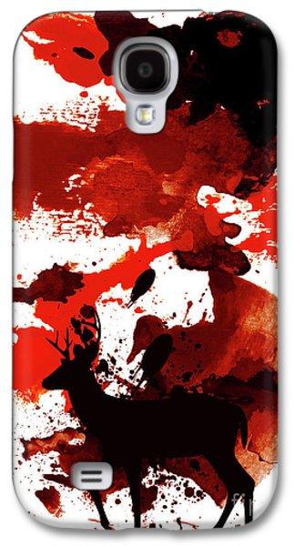 Night Deer Galaxy S4 Case by Ajini Kulasekara