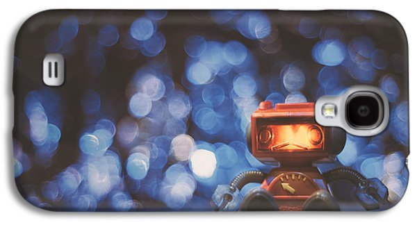 Night Falls On The Lonely Robot Galaxy S4 Case by Scott Norris