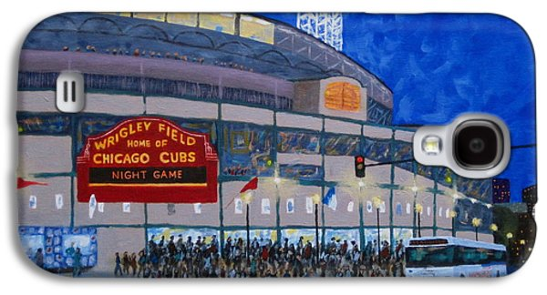 Baseball Stadiums Paintings Galaxy S4 Cases - Night Game Galaxy S4 Case by J Loren Reedy