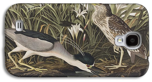 Night Heron Or Qua Bird Galaxy S4 Case by John James Audubon