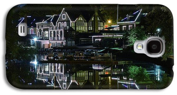 Night Lights Of Boathouse Row Galaxy S4 Case by Frozen in Time Fine Art Photography