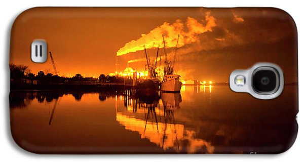 Night Reflections Of A Paper Mill Galaxy S4 Case