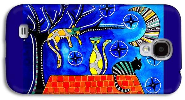 Night Shift - Cat Art By Dora Hathazi Mendes Galaxy S4 Case