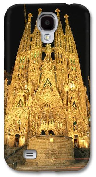 Night View Of Antoni Gaudis La Sagrada Galaxy S4 Case