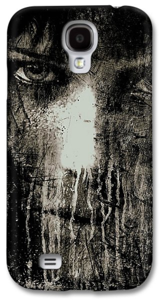 Nights Eyes Black And White Galaxy S4 Case by Marian Voicu