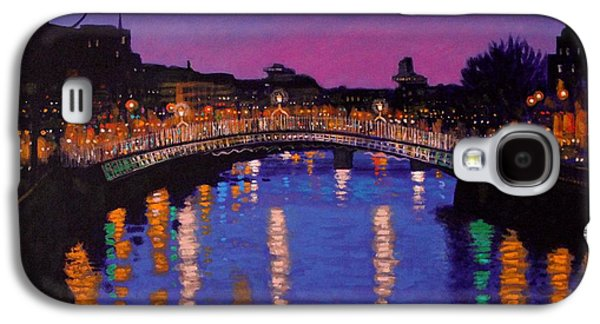 Nighttown Ha Penny Bridge Dublin Galaxy S4 Case by John  Nolan