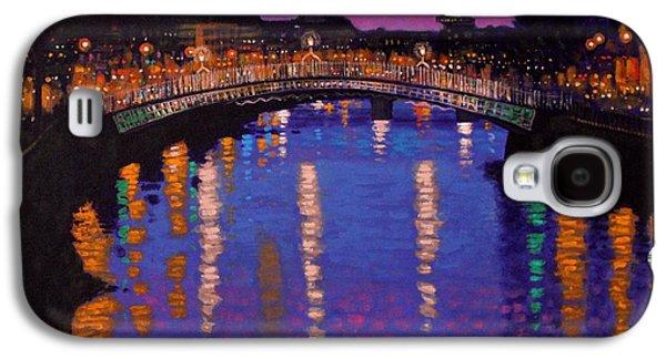 Nighttown Ha Penny Bridge Dublin Galaxy S4 Case by John  Nolan