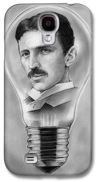 Nikola Tesla Galaxy S4 Case by Greg Joens